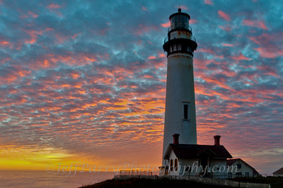 Pigeon Point Lighthouse Pink Clouds Sunset