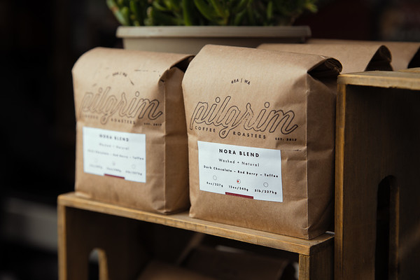 Commercial product photography created for Pilgrim Coffeehouse by Denver photographer Jason Sinn.