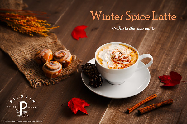 Pilgrim Coffeehouse Winter Spice Latte Holiday Ad