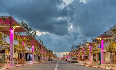 The clean streets of Netanya along the Mediterranean Sea