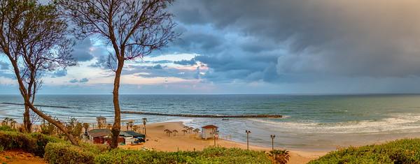 View of the Mediterranean Sea in Netanya, Israel