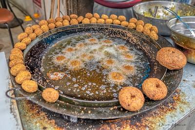 Falafel's frying