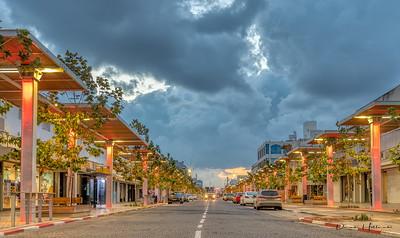 The streets of Netanya, Israel (just north of Tel Aviv) at sunrise