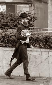 Orthodox Jew on the way to prayer