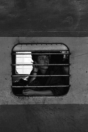 Jennifer Buggia traveling by train  1