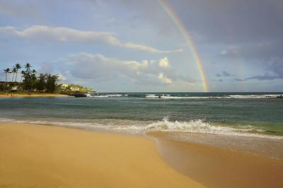 poipu beach rainbow