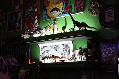 Hey, no bar is complete without dinosaurs.