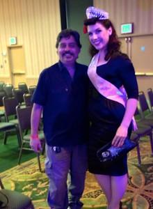 moi and the very tall Samantha DeBruhl