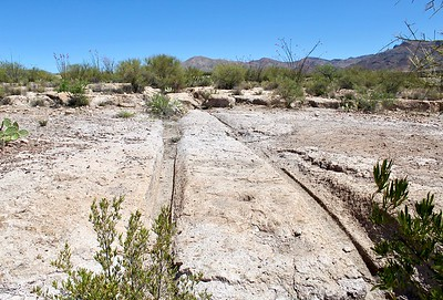 Historic wagon tracks near Pinal City (2018)