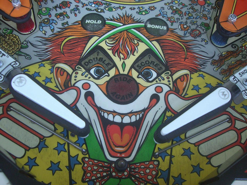 Clown area below mylar showing ball swirls and the beginning stages of planking.
