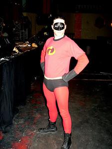 Mr.Incredible prog drummer himself!   (Jamie's preshow costume)