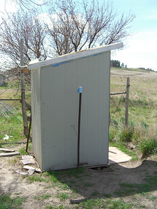 Outhouse at St. Julia's.   Decent enough inside.