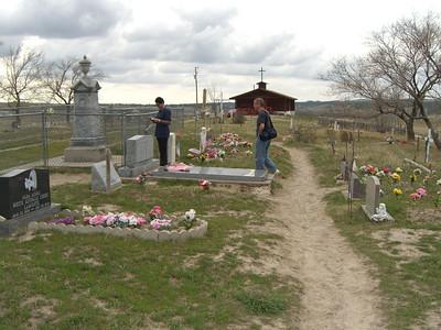 Hilltop cemetery at Pine Ridge.