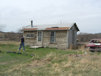 Right - this is the log cabin (110 years old). It needs to be wheel-chair accessible for Celia's daughter.