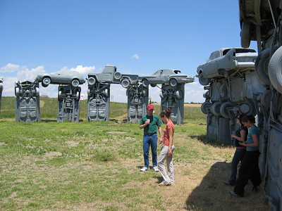 Checking out Carhenge, Nebraska.  You can set your watch with these astronomically-placed structures.  :)