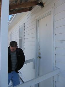 Lower edge of door needs weather stripping.