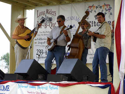 Friday's performance for Pinegrass, A Bluegrass Band: Ted, Jack, Rick, Chad, and John