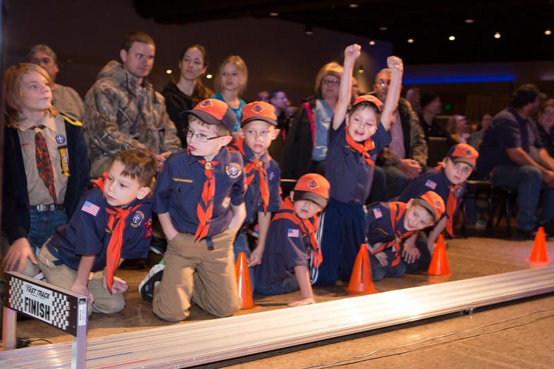 Tiger Cubs (from left): Max, Joshua, Jacob, Hudson, Carson, Ian and Benjamin