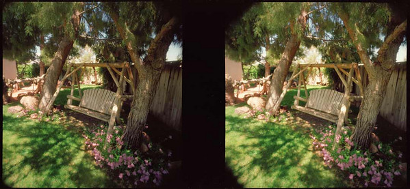 Backyard Swing 3D - Note that the two images are not quite identical in their framing.