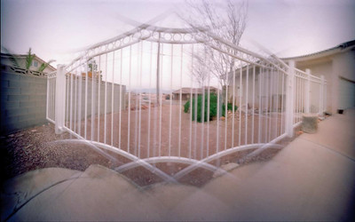 Driveway Gate - Counterclockwise Blend - This blending yields an image closer to reality, but still quite distorted.