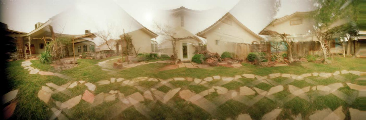 Backyard - Clockwise Rotation - This blending has each component image backwards and the overall picture is ordered backwards.