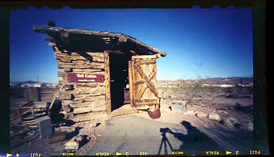Toll Cabin - Note the notches (most visible on the top!) where the image-sizing baffles would be inserted.  The significant light falloff of this 6x9  format is reduced by narrowing the image format.  That is, at 6x6 there is significantly less vignetting.