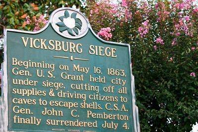 Vicksburg Siege Delta flowers and springtime beauty make for great photos. These signs were found throughout the delta.