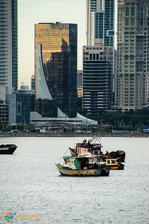 Panama City bay and skyline, Panama