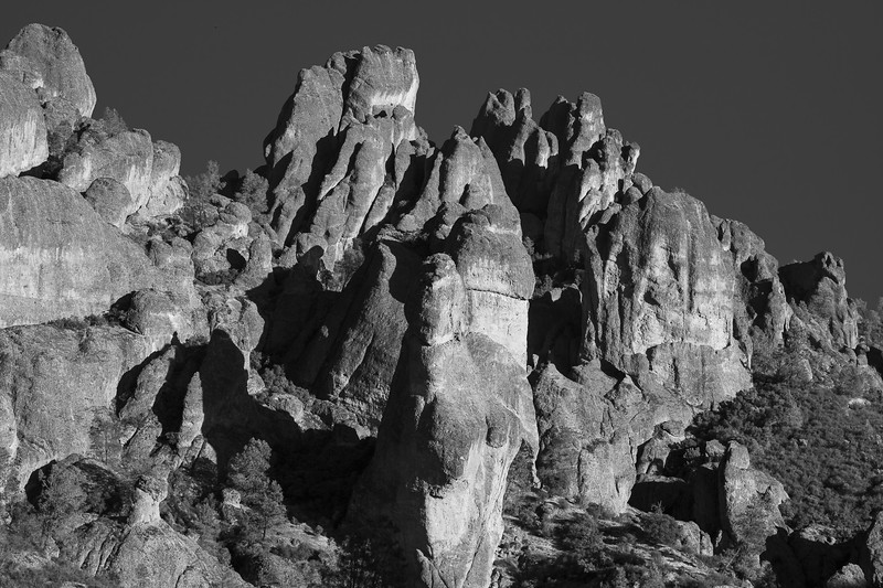 Pinnacles Black and White