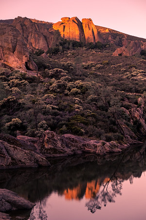 Sunrise Reservoir Pinnacles