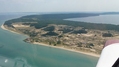 Eastern shoreline of Lake Mi. from 500'