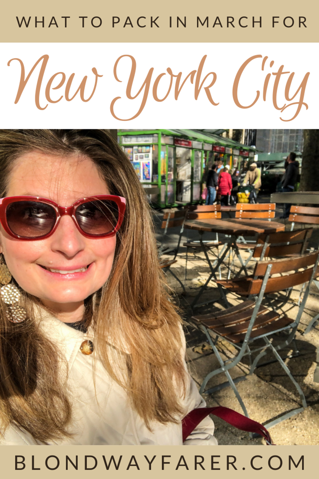 nyc packing list spring | what to pack for nyc in march | what to wear in new york city in march | what to pack for new york in march | what clothes to pack for new york in march |