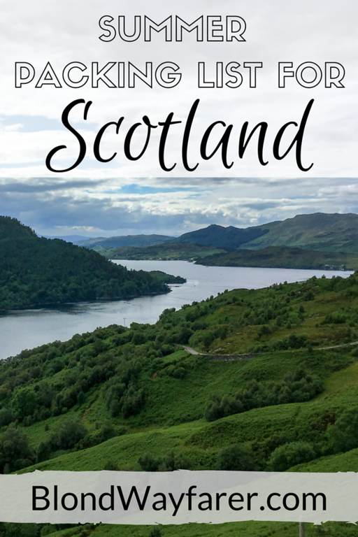 scotland packing list | packing for scotland | packing list for scotland | summer scotland packing | visit scotland | solo female travel | travel tips | packing advice | wanderlust