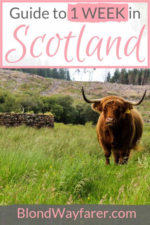 scotland in a week | a week in scotland | 7 day scotland itinerary | 1 week itinerary scotland | scotland itinerary 7 days