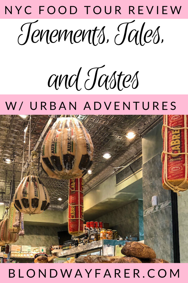 tenements tales and tastes tour | urban adventures nyc | urban adventures food tour | nyc food tour | lower east side food tour | lower east side guide