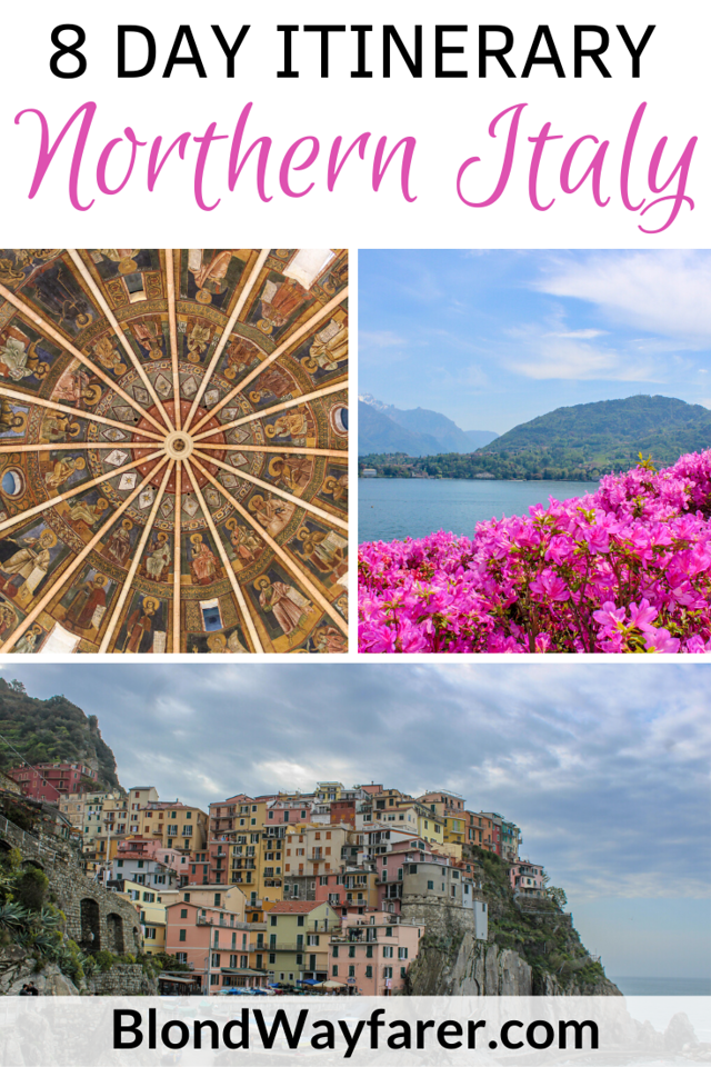 northern italy itinerary 8 days | northern italy itinerary | 8 days in northern italy | eight days in northern italy | northern italy 8 days