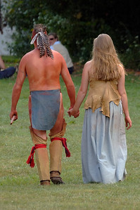 Indian and settler couple at Siege of Boonesborough re-enactment