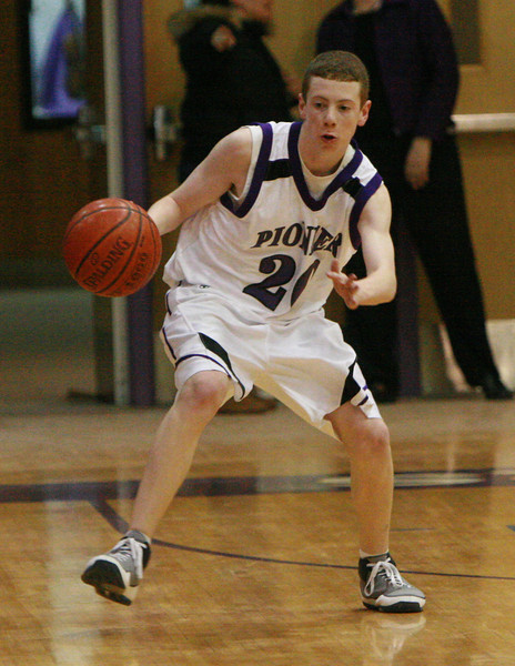 Adrian at Pioneer basketball 2009 - JV