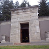 Hope Abbey Mausoleum was built in 1913-1914.  It was designed by Ellis Lawrence, first dean of the University of Oregon School of Architecture and Allied Arts.  Lawrence designed a number of buildings on the UO campus, including the original section of the Knight Library.