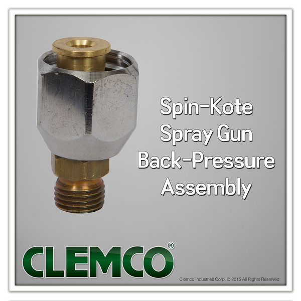 Spin-Kote Spray Gun Back-Pressure Assembly