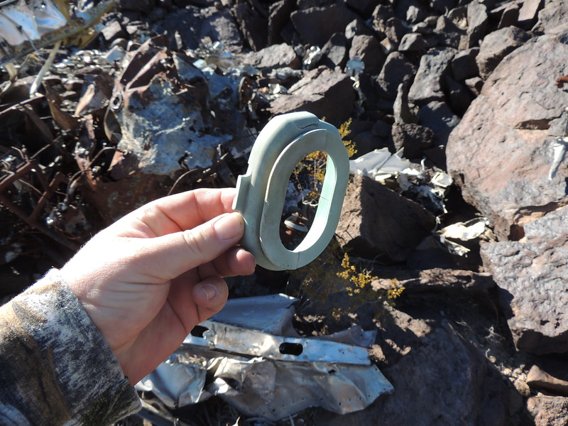 I hate finding personal items at a fatal crash site. This is an ear piece from a David Clark headset.