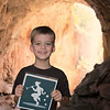 Feeling adventurous, Eli and the Piper clambered all the way under Tonto Natural Bridge, stopping here to celebrate their accomplishment.