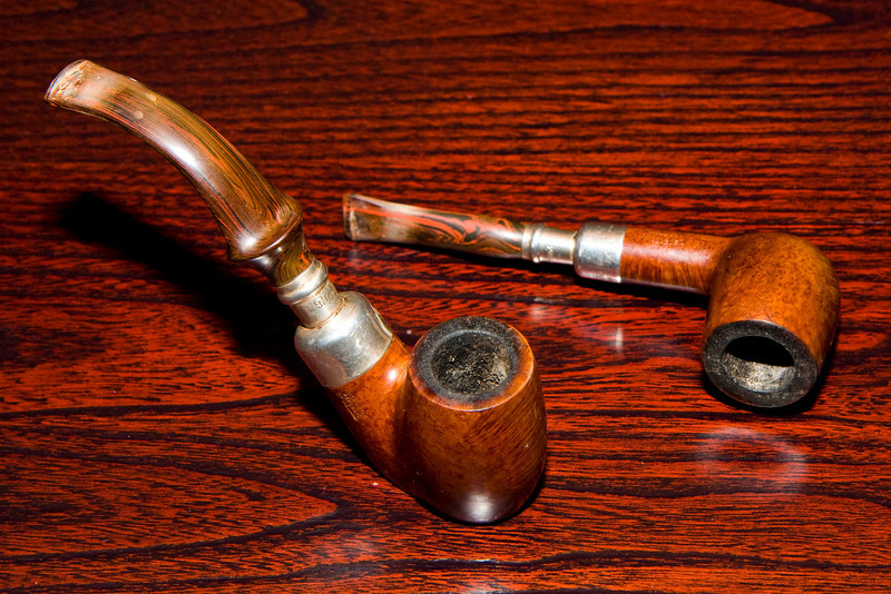 Two of Jim's Petes: both spigots with cumberland stems