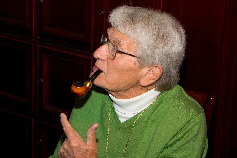 Jim Allison smoking a Peterson mere