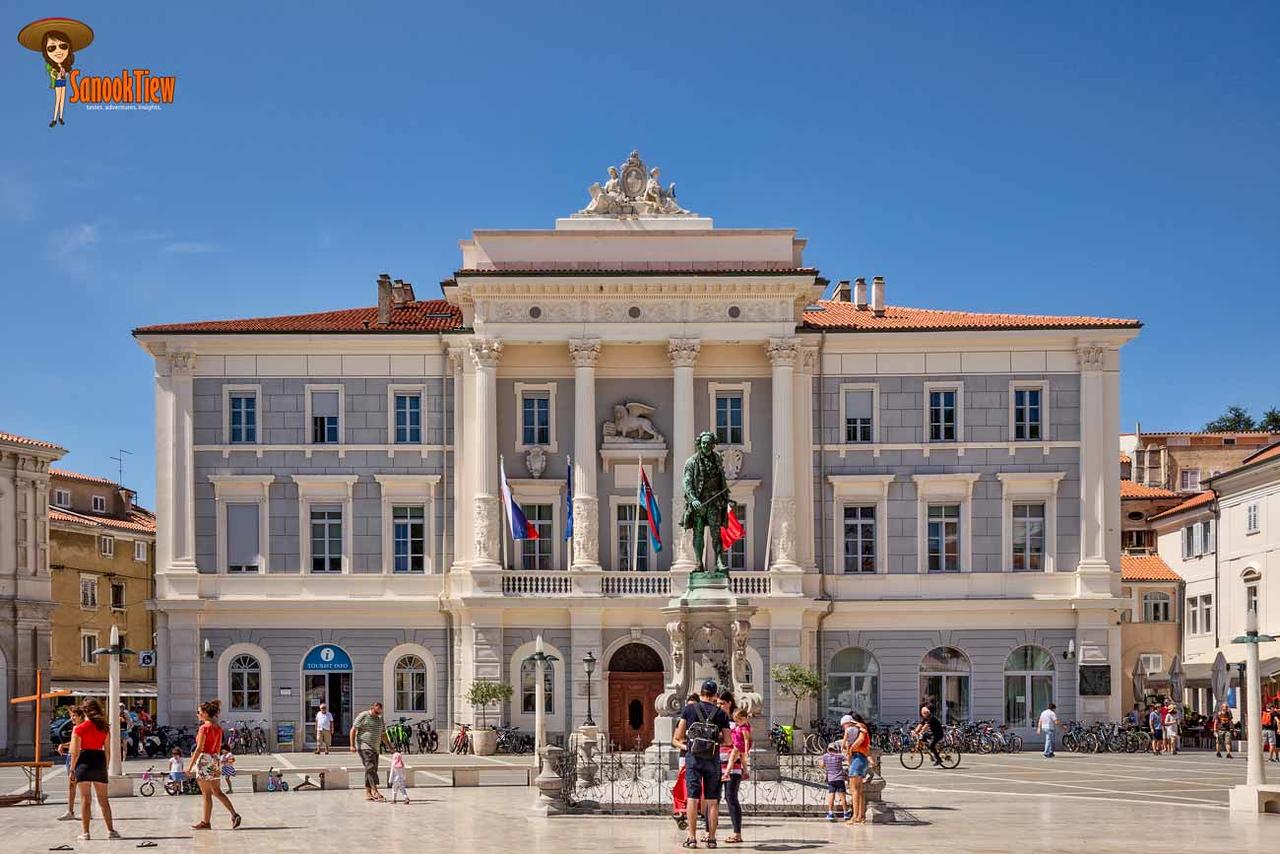 เที่ยว Piran ปิราน พิราน ทะเล สโลวีเนีย Slovenia ยุโรป Europe; Tartini Square
