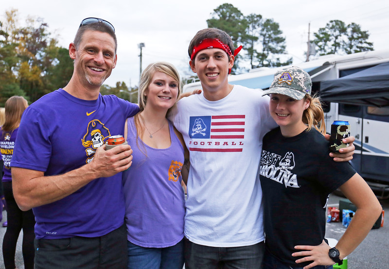 East Carolina University tailgaters on Saturday, Nov. 7, 2015 (Will Preslar Photography)