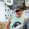 Dennis LaClair, 7, shows off his best pirate gear during pirate day at the Fitchburg Public Library on Tuesday afternoon. SENTINEL & ENTERPRISE / Ashley Green