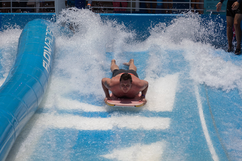 Mike on the FlowRider.