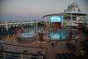 Pre-dawn on the pool deck.