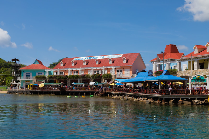 Dockside in Roatan.